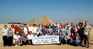 Egyptian Adventure group led by Ferrell Jenkins. March 2005.