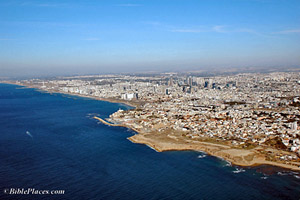 Tel Aviv - Joppa Aerial photo by Todd Bolen, BiblePlaces.com.