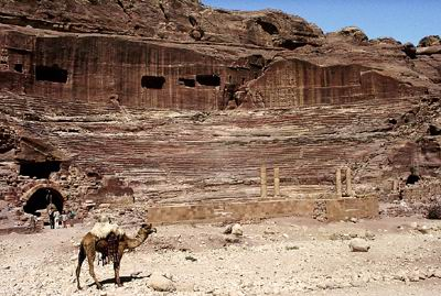 Roman theater in Petra. Photo by Ferrell Jenkins. BiblicalStudies.info.
