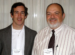 David McClister and Tom Hamilton,  Biblical Studies professors at Florida College. Photo by Ferrell Jenkins.