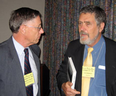 Dr. Bryant Wood and Dr. Leen Ritmeyer at the annual meeting of the NEAS, Washington, DC, 2007. Photo by Ferrell Jenkins.